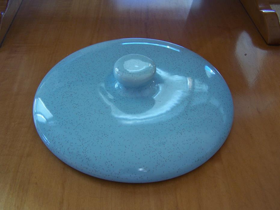 Blue Speckled Casserole Lid