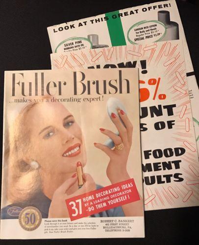 Vintage 1950s Fuller Brush Product Sales Catalog w/ Customer Order Blank 1956