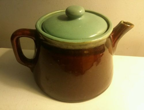 Zanesville turquoise blue brown country fare teapot