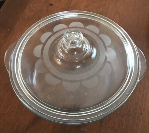 Vintage Etched Glass Casserole Dish