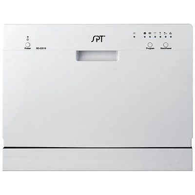 Portable Countertop Dishwashers SPT Countertop Dishwasher, Silver