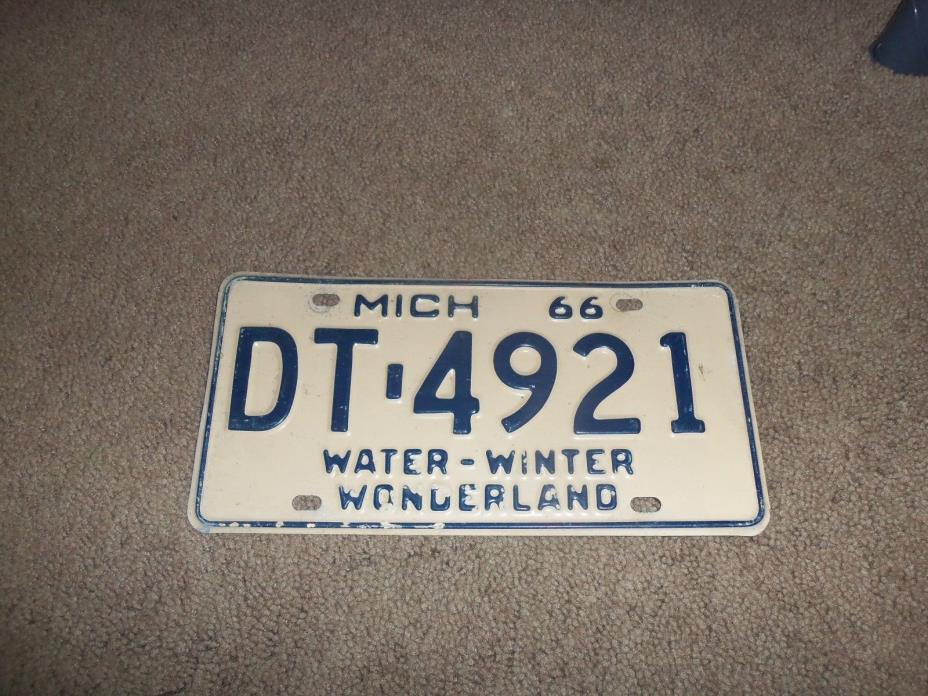 1966 michigan license plates
