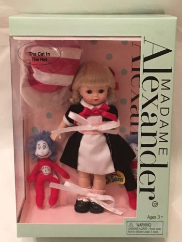 Madame Alexander Dr. Seuss Wendy THE CAT IN THE HAT DOLL NEW RARE NRFB