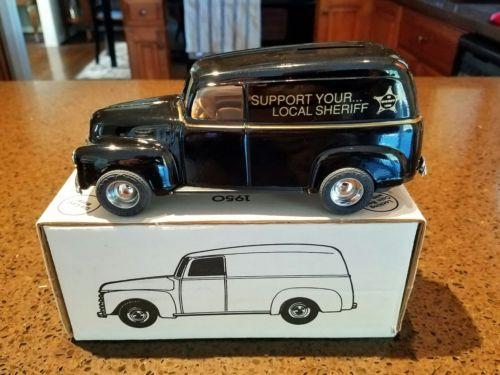 ERTL 1950 Chevy Panel Truck Bank Sheriff In Original Box