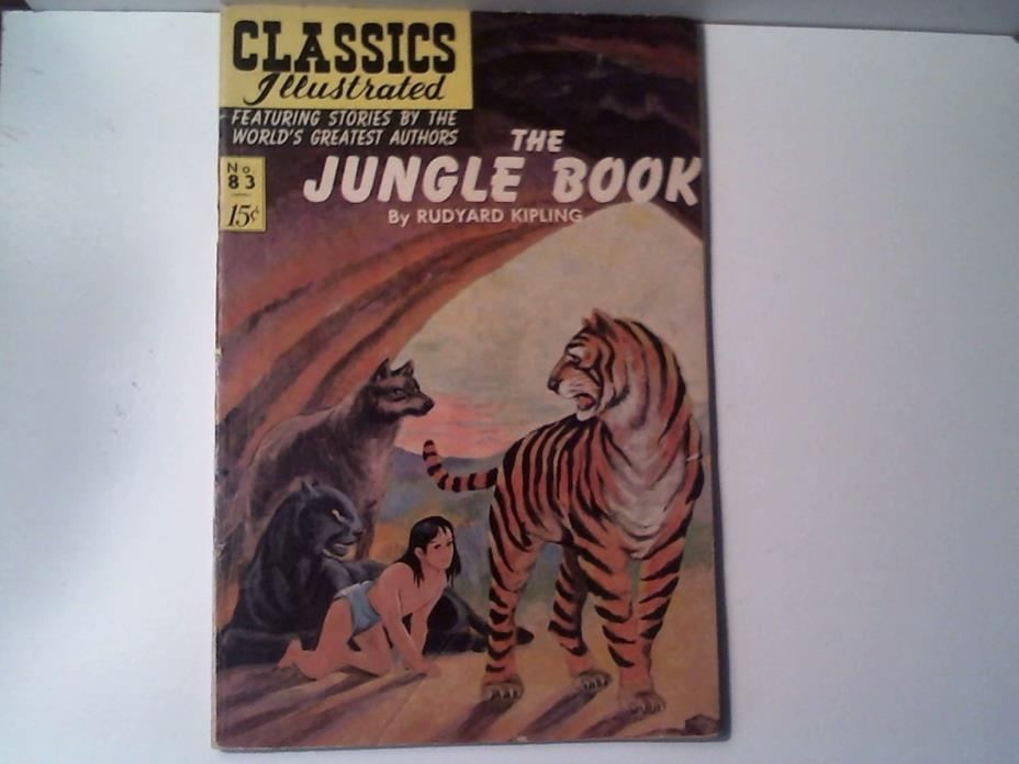 1951 Vintage The Jungle Book Classics Illustrated 083 By Rudyard Kipling