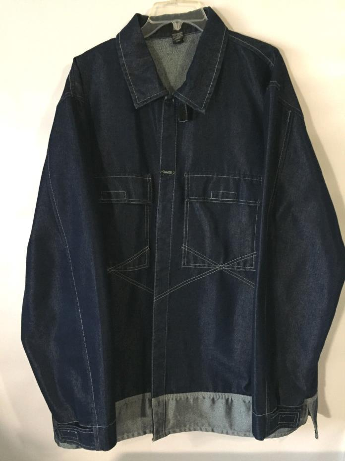 EUC Mens Marithe Francois Girbaud Blue Denim Jean Jacket XXL