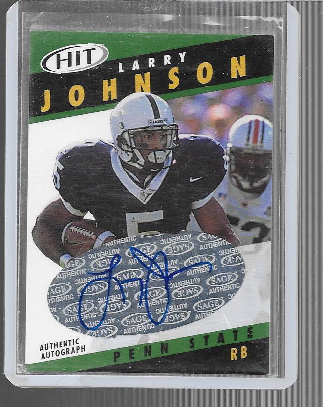 2003 Sage - LARRY JOHNSON - Autograph Rookie - PENN STATE LIONS