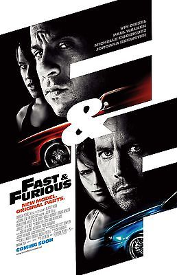 PAUL WALKER FAST AND FURIOUS 11x17 mini movie poster collectible