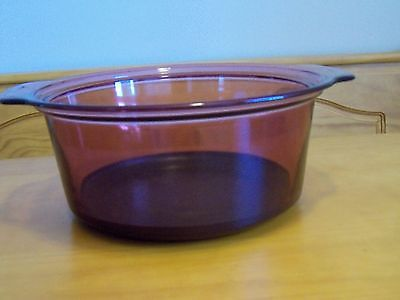 Pyrex Dutch Oven Visions CRANBERRY Pot Vision Nonstick