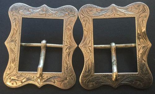 Vintage Sterling Silver Engraved Western Buckles Bridle Headstall Spurs Belts Ha