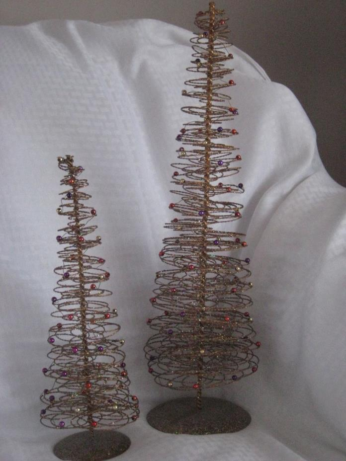 Crate n Barrel Beaded Wire Christmas Tree