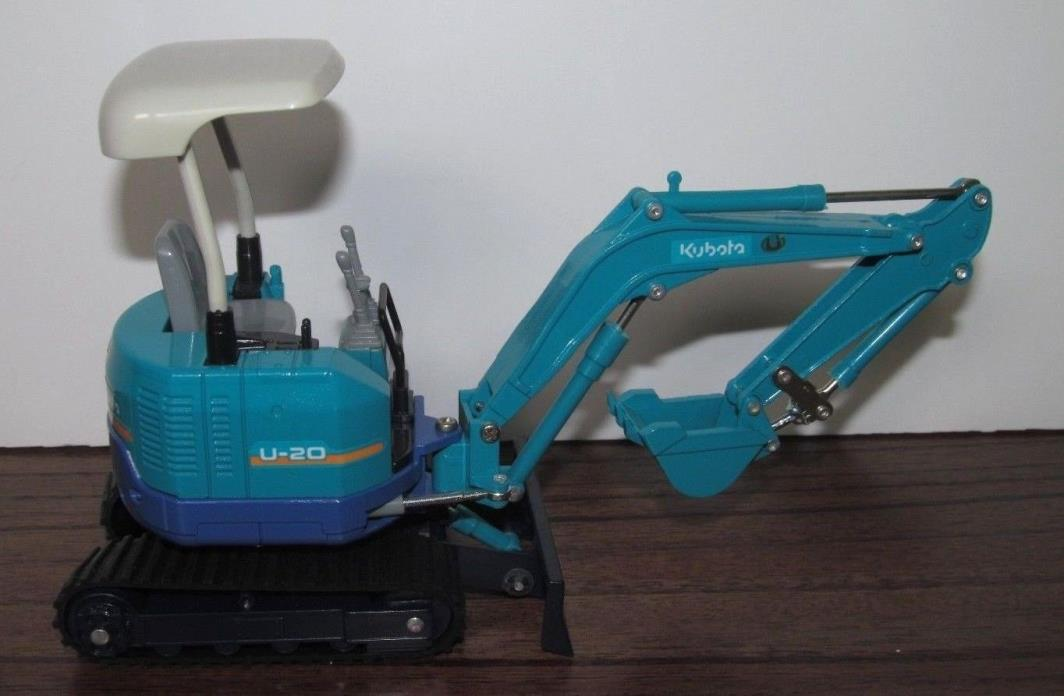 1996 Kybota U-20 Die Cast Mini Excavator Dozer by Diapet Scale 1:27