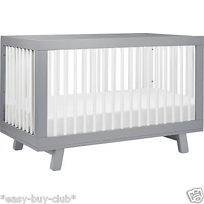 3 In 1 Convertible Crib Baby Cot Toddler Bed Daybed Nursery Furniture Solid Wood