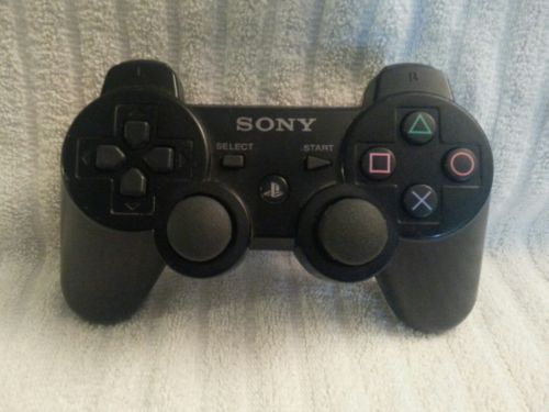 Original Official Sony Playstation 3 PS3 Sixaxis Controller Black