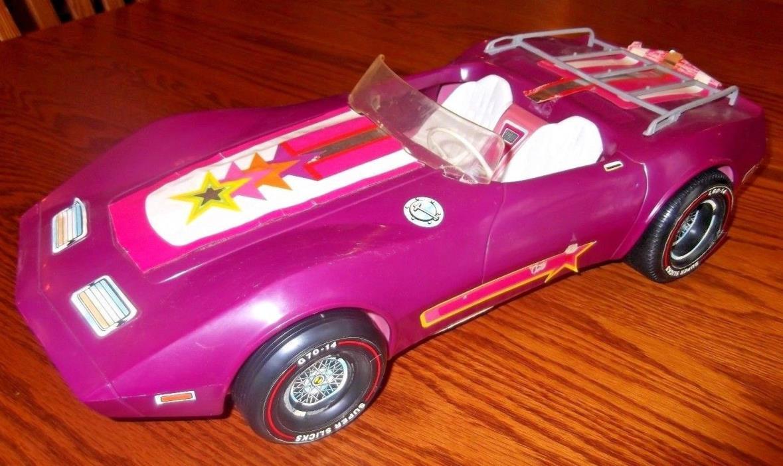 1970s VINTAGE BARBIE PURPLE STAR 'VETTE CORVETTE CAR WITH CASSETTES by MATTEL