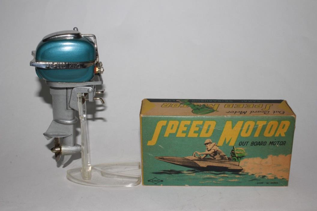 1954 Rico Speed King Battery Operated Boat Motor, Nice with Original Box