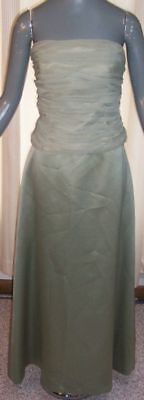 Dessy Creations Green Bridesmaid Gown sz 6 8 By4ShpFREE