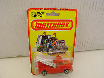 1976 MATCHBOX LESNEY SUPERFAST #61 RED WRECK TRUCK MOC