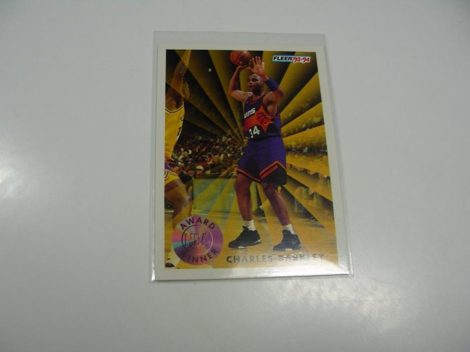 Charles Barkley 1993 Fleer NBA Award Winner MVP card #229