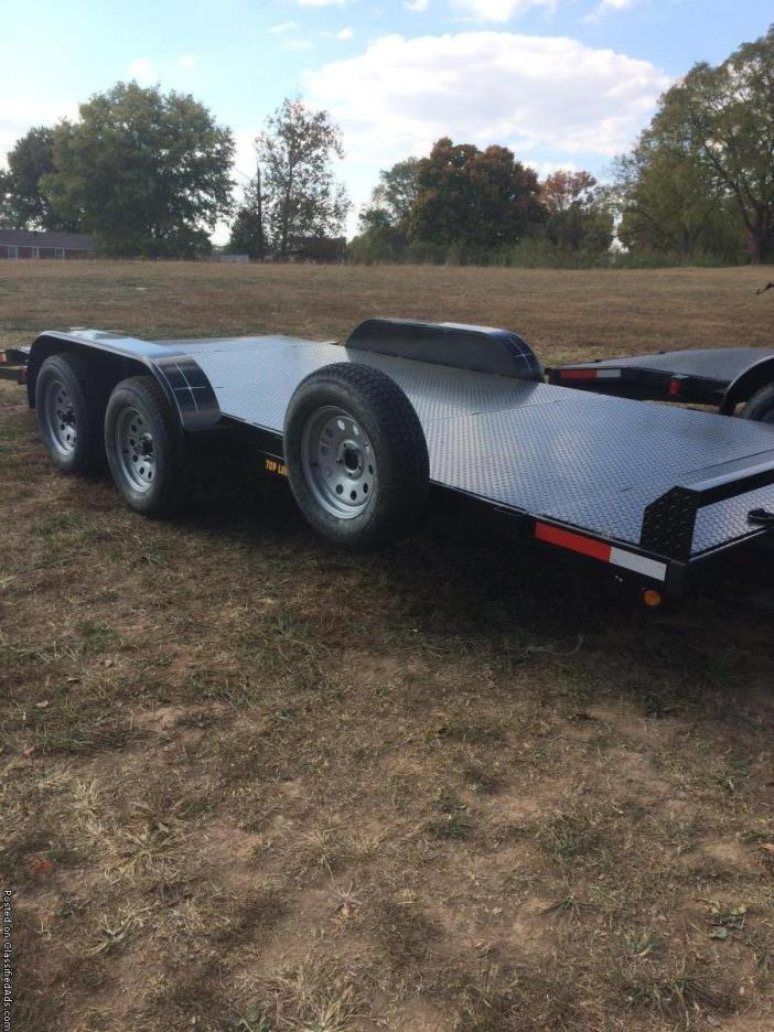 New 83x18'' Tubing Steel Floor Car Hauler Trailer and Spare Tire