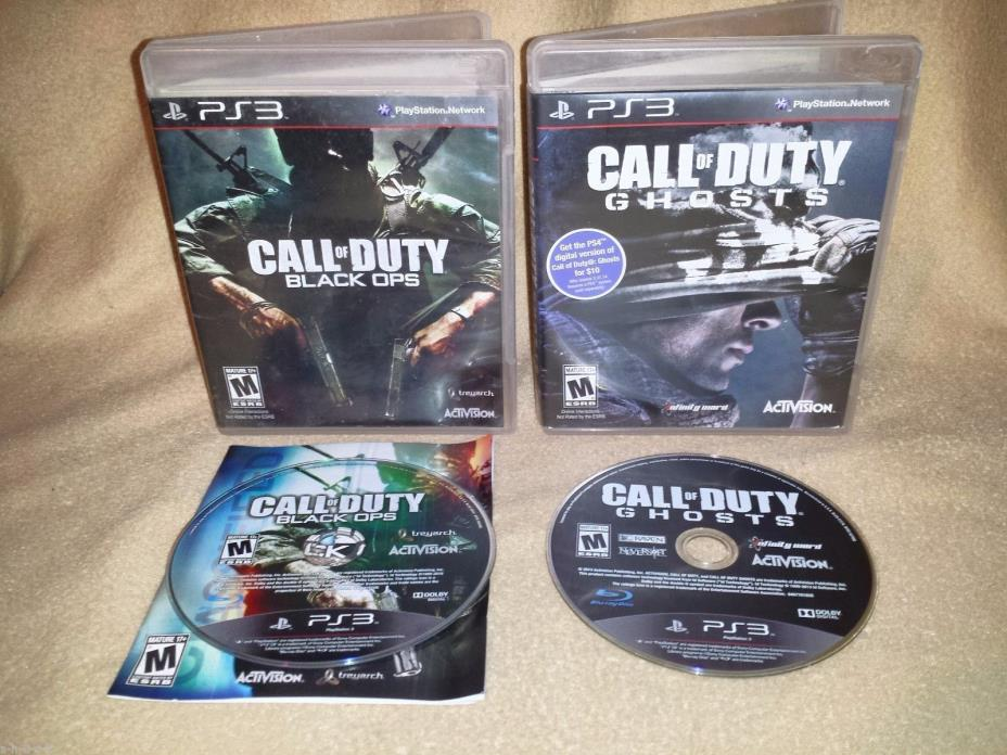 Call of Duty Lot: Black Ops and Ghosts (Sony PlayStation 3 PS3, 2010 & 2013)