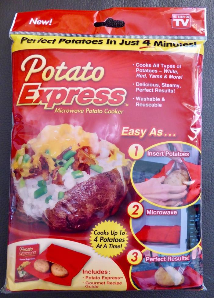 Potato Express Microwave Baked Potato Cooker Bag As Seen On TV Washable NEW