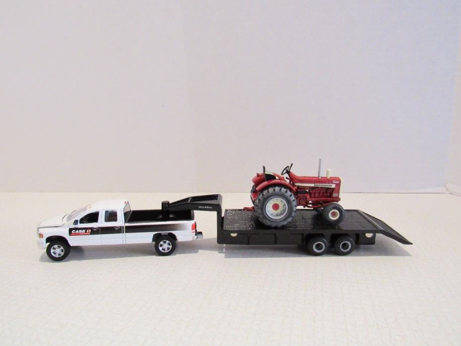 1/64 Ertl Farm Toy CUSTOM IH CASE RAM TRUCK WILSON TRAILER INTERNATIONAL TRACTOR