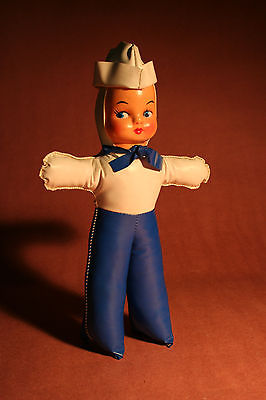 Vintage Vinyl Sailor Doll - Circa 1955 - 12