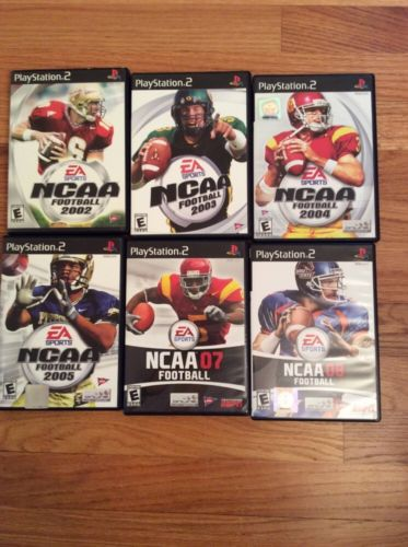 Sony PS2 NCAA Football 6 games (2002, 03, 04, 05, 07, 08)