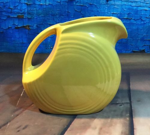 Vintage Fiesta Juice Pitcher In Yellow