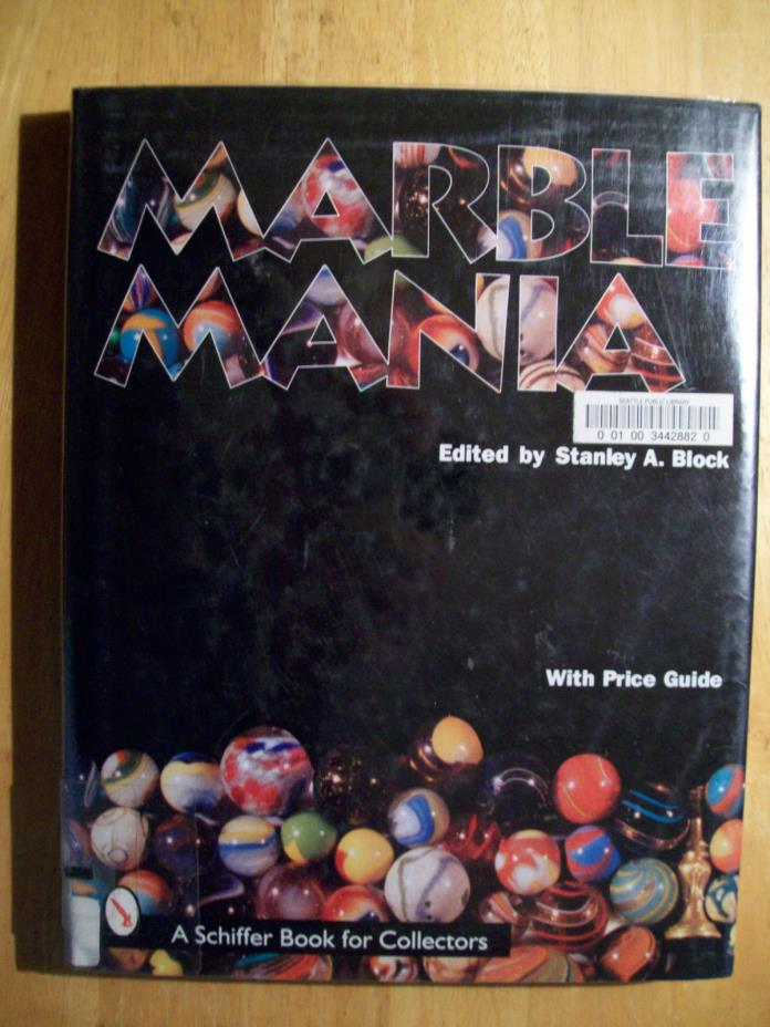 Antique Marbles Toy Price Guide Book Lutz Swirl's Opaque Clay Agate Sulphides