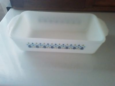 Vintage Fire King Anchor Hocking Swiss Chalet Alpine Loaf Pan