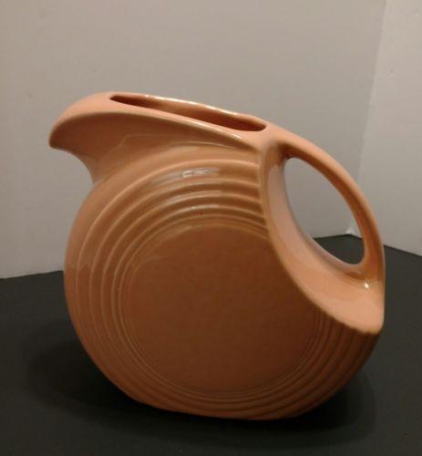 Peach fiesta pitcher vintage excellent condition