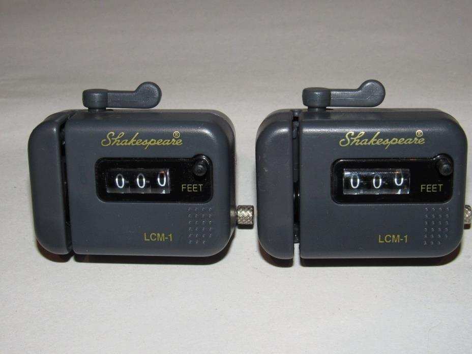 Lot of 2 Shakespeare Alpha LCM-1 (clip on) Line Counter Meters - Excellent Cond!