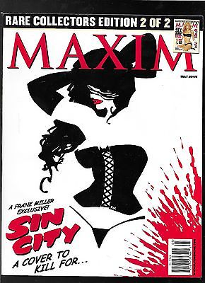 Maxim magazine 89 May 2005 Frank Miller SIN CITY variant cover