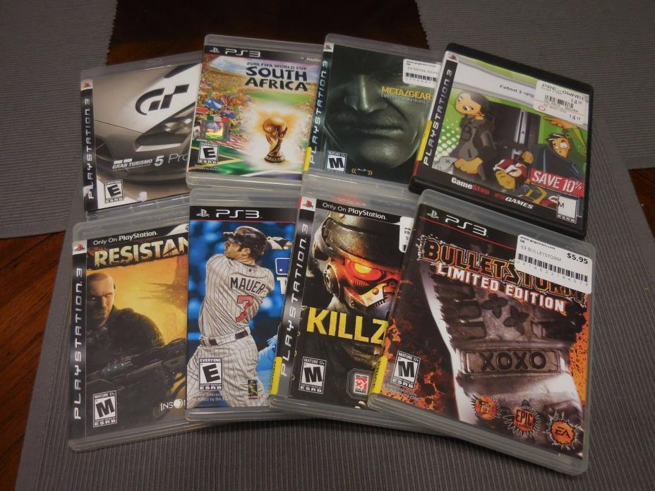 LOT OF 8 PLAYSTATION 3 VIDEO GAMES FREE S/H LOOK MIXED LOT PS3 TESTED WORK