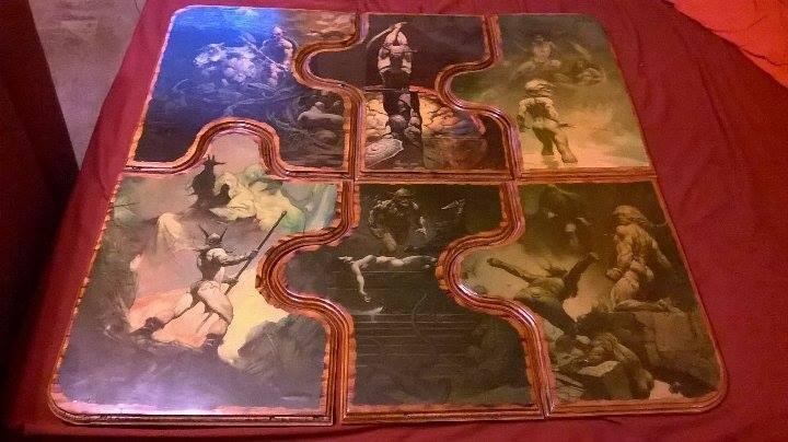 Frank Frazetta Woodcut Jigsaw Puzzle Art ONE OF A KIND!! RARE!!