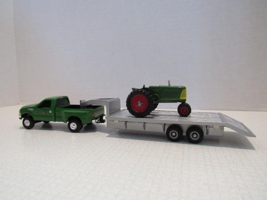 1/64 Ertl Farm Toy CUSTOM OLIVER FORD TRUCK TRAILER AND OLIVER 88