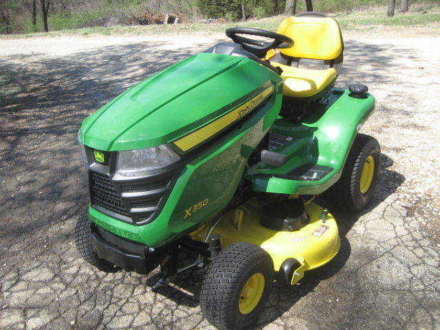 John Deere X350 Tractor with 42-inch Deck, Zero Hrs BRAND NEW