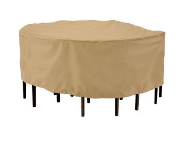 Patio Furniture Covers Waterproof Round Table Chairs Protector Large