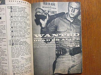 Sept-1958 TV Guide(WANTED DEAD OR ALIVE/CLINT WALKER/TY HARDIN/NAN LESLIE/LASSIE