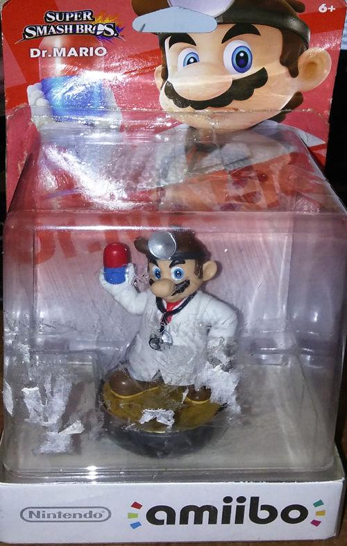 DR. MARIO Amiibo FIGURE [US VERSION] Super Smash Bros. Nintendo Wii U 3DS