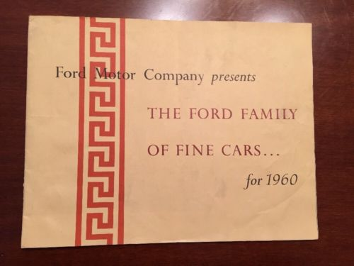 1960 Ford Car Lincoln Mercury Stockholder's Brochure TBird Falcon Full Auto Line