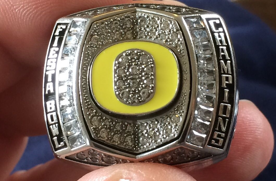 2013 oregon ducks fiesta bowl championship champions football players ring