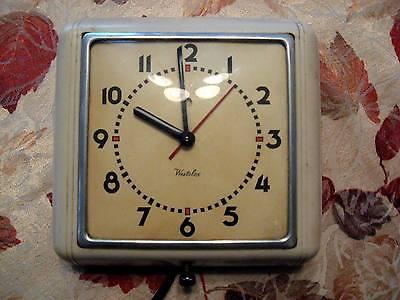 Vintage Art Deco Westclox Kitchen Wall Clock