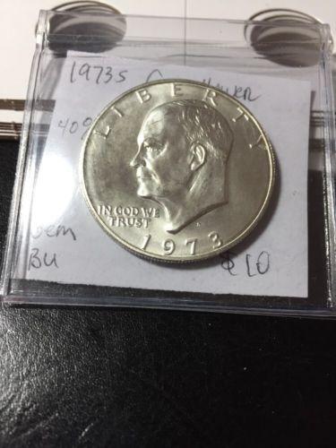 1973 S Eisenhower Dollar Silver UNC $12