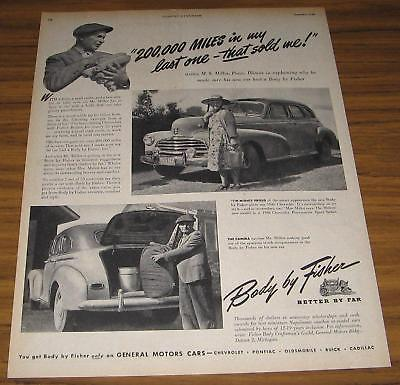 1946 AD~BODY BY FISHER~46 CHEVROLET~CHEVY