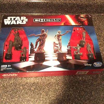 EUC Chess Game Star Wars Edition Board Family Set The Force Awakens