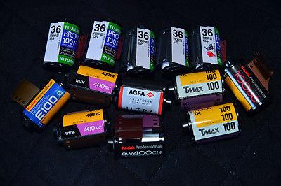 35mm Film 13 ROLLS Various Types
