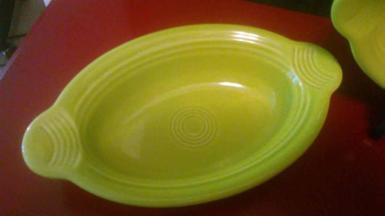 Fiestaware Lemongrass  Lime Green Individual Casserole Baking Dish - Fiesta HLC